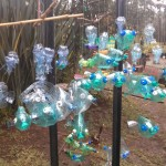 Recycled Plastic Water Bottle Sculptures