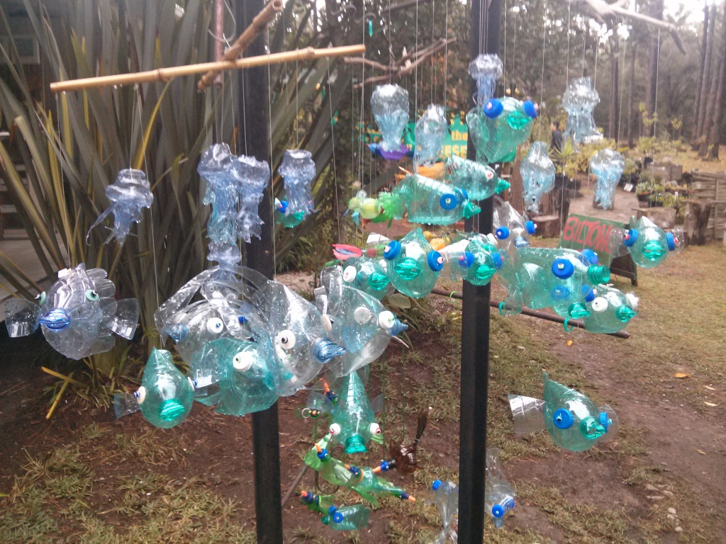 Recycled plastic water bottle sculptures the debate for Recycled products from plastic bottles